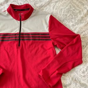 new style edc99 c5498 Men's NWOT Adidas Climacool Pullover Jacket Red